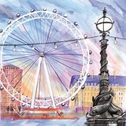 Carte The London Eye et enveloppe