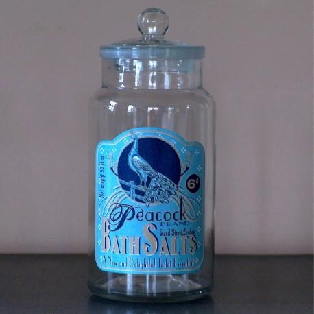 Jarre en verre à coton Bath Salts