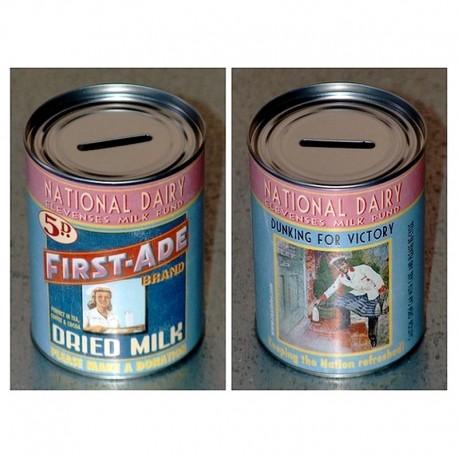 Tirelire Rétro Milk Boite De Conserve