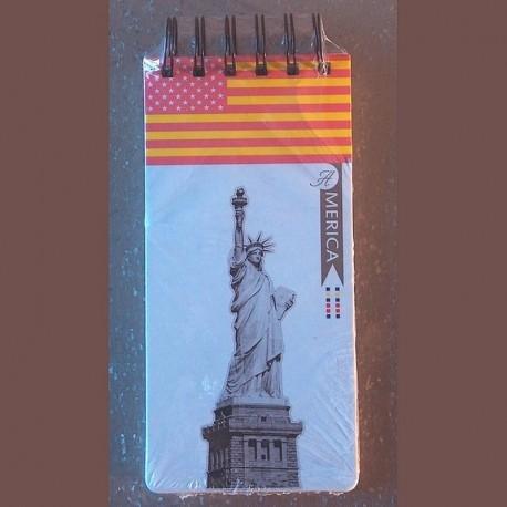 Carnet listes de courses America Liberty