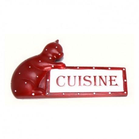 Plaque de porte cuisine Chat