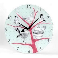 Horloge naïve oiseaux contemporains