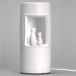 Lampe originale deux chats assis