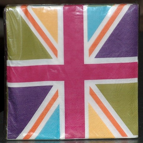 Serviettes papier Union Jack Colors