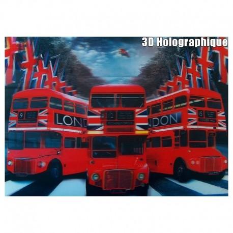 Affiche 3D Hologramme Bus Londres