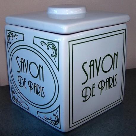 Pot et couvercle savon de Paris Art Déco