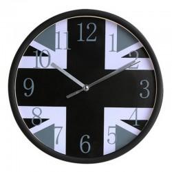 Horloge murale Union Jack Noir et Blanc