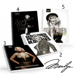 "Cahier A4 Marilyn ""Gentlemen prefer blondes - Modéle 5"""