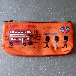 Trousse scolaire orange I Love London - Guardsmen