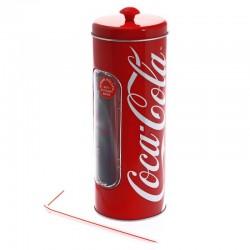 Boite à pailles Coca-Cola avec pailles