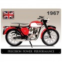 Plaque métal Triumph Tiger Cub Union Jack