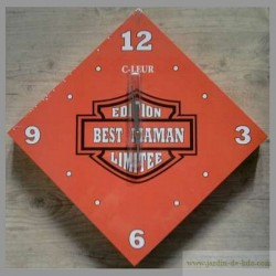 "Horloge ""Best Maman"" façon Harley-Davidson"