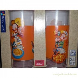Deux verres Kellogg's Rice Krispies Orange