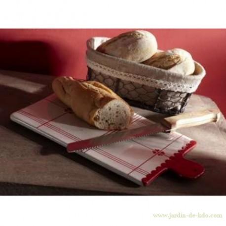 Planche à découper campagne et couteau à pain