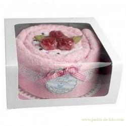 Gâteau de serviettes et savons fleurs GM