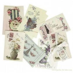 Ensemble de 12 cartes anglaises anciennes rexinter