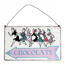 "Plaque murale ""Girls and Chocolate"""