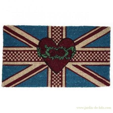 Paillasson Union Jack et Cœur
