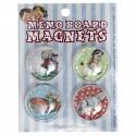 """Pack de 4 magnets """"Souvenirs d'enfance"""""""