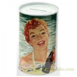 Tirelire Coca-Cola Pin-Up Rousse Piscine