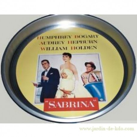 "Plateau rond ""Film d'Hollywood - Sabrina"""