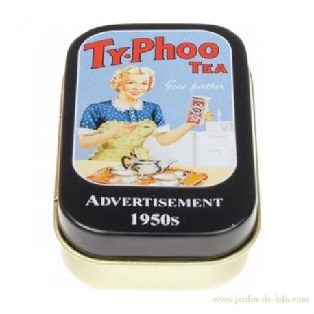 Boite Typhoo étain HMB Angleterre