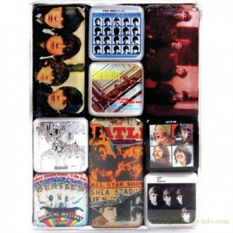 Set de 9 magnets Beatles en boite
