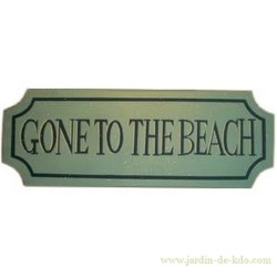 "Panneau en bois ""Gone To The Beach"""