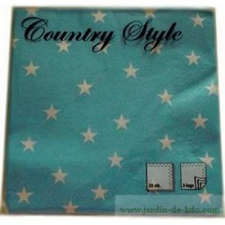 "Paquet de serviettes ""Country Etoiles"""