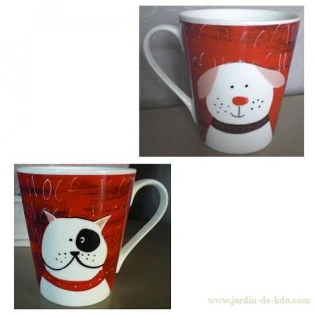Mug Wouf deux faces deux chiens
