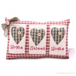 "Coussin ""Home Sweet Home"" avec noeud"