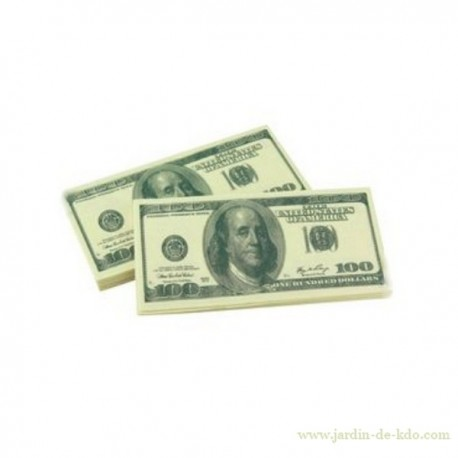 Serviettes en papier Billet 100 Dollars