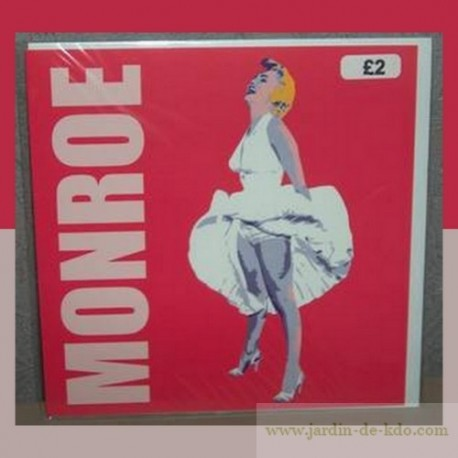 Carte Pop Art Marilyn robe au vent