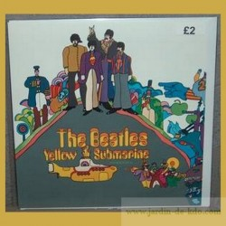Carte The beatles Yellow Submarine Enveloppe