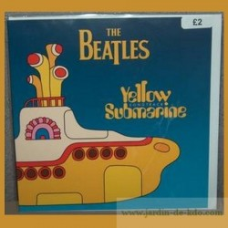 Carte The Beatles Fab Four Sous-Marin Jaune