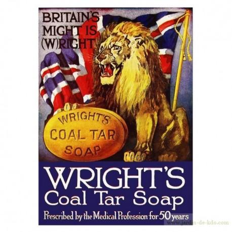 Plaque pub savon lion UK Wright's Soap