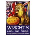 """Plaque de pub savon """"Lion UK"""""""