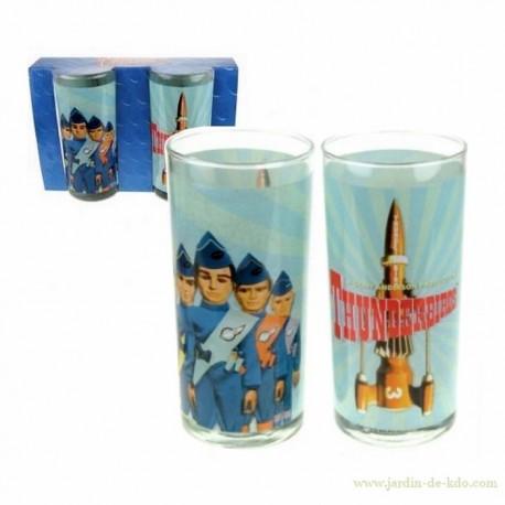 Pack de 2 verres Thunderbirds déco vintage