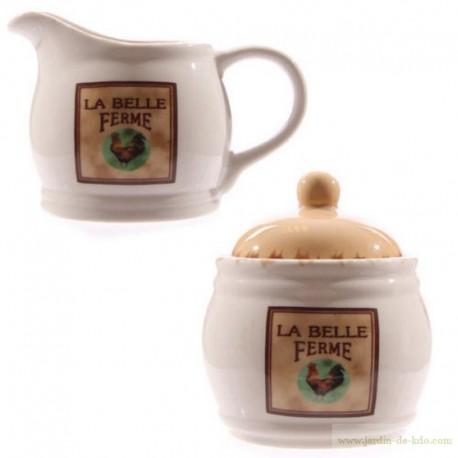 """Duo pichet à lait et pot """"La belle ferme"""""""