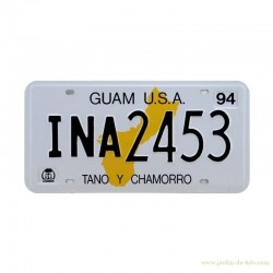 "Plaque Immatriculation US ""Guam"""
