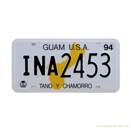 Plaque USA Auto Guam Reproduction