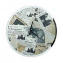 Pendule Newspaper Vintage Effet Miroir