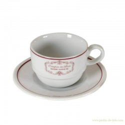 Tasse et sous-tasse comptoir des délices porcelaine restaurant