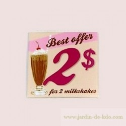 Magnet Best Offer 2 Dollars Milkshakes
