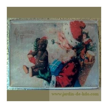 """Magnet """"Papa Noël et ses cadeaux"""""""