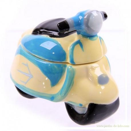 Boite scooter rétro bleu import