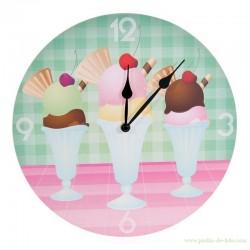 Horloge sundae crème glacée pastel