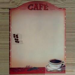 """Plaque métal """"Café"""" et ses 8 aimants"""