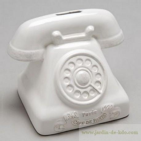 Tirelire téléphone Amadeus céramique Paris