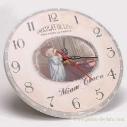 Horloge Chocolat de Luxe Miam Famille